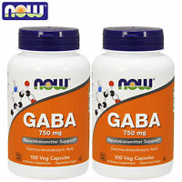 Now Foods GABA 100/200 Capsules Hormone Support Kosher Relaxation Brain Health