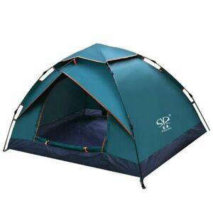 Waterproof Camping Tent Automatic Open Beach Travel Double Layer Anti UV Tourist