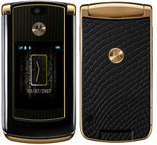 "MOTOROLA RAZR2 V8 Unlocked ""Luxury Edition"" Gold GSM Bluetooth Camera Flip Phone"
