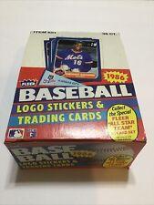 1986 FLEER BASEBALL WAX PACK BOX 36 PACKS~PRISTINE