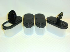TUPPERWARE NEW SPICE SHAKER SET / Small with BLACK Lids