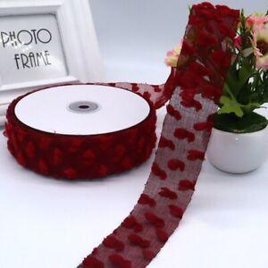 5yards/lot 4cm Ribbon Playful Clouds Hemp Organza Girls Hairbow DIY Gift Box