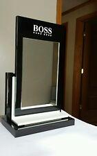 New Hugo Boss Mirror Display. Color Black & White, Plexiglass, Very Heavy 4.5 Lb