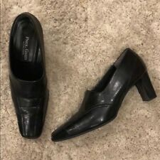 Paul Green Munchen Black Leather Shootie Heels Size 5.5