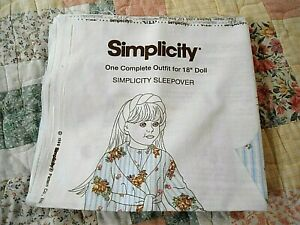 """Simplicity 1 Complete Outfit 18"""" Doll  Sleepover1998"""