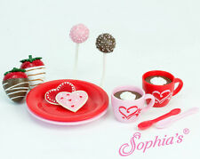 """Sophia's 12 piece Hot Chocolate Cocoa & Sweets for 18"""" American Girl Doll food"""