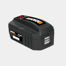 WORX 20V Cordless Tools Li-Ion Battery WA4009 USB Mobile Charger Convert Adapter