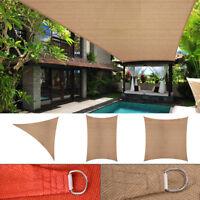 Sun Shade Sail Outdoor Patio Garden Shade Canopy Cover UV Block Triangle/Square