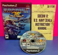 Socom II US Navy Seals - PS2 Playstation 2 COMPLETE Game 1 Owner Near Mint Disc