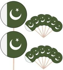Pakistan Flags Party Food Cup Cakes Picks Sticks Decorations Toppers