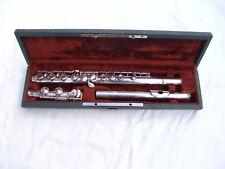 Flûte traversière argent massif de HENRI SELMER numéro 1862 ( solide silver )