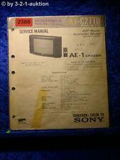 Sony Service Manual KV C27TD (#2386)