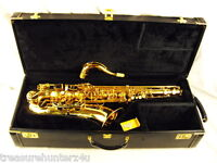 SELMER PARIS REFERENCE 36 PROFESSIONAL TENOR SAXOPHONE GOLD LACQUER NEAR MINT