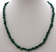 Malachite Gemstone Chain ca.45 CM Snap Lock Green Necklace Natural