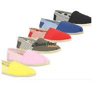 Womens Espadrilles Shoes, Womens Canavs Pumps - Size 3-8