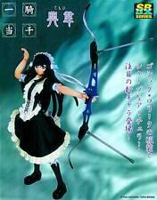 Yujin IKKI TOUSEN SRDX Series Tenni Figure with Bow + Display Stand Anime Goth