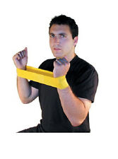 Resistance Band LOOP Exercise HEAVY Pilates Yoga YELLOW Exercise Stretch Tubing