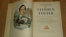 A TREASURY OF STEPHEN FOSTER 1946 222 PG HARDCOVER...NO DUST JACKET