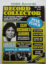 RECORD COLLECTOR MAGAZINE - Issue 83 July 1986 - Cliff Richard / Simple Minds