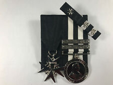 Order of St. John, St. Johns Long Service Medals + 2 clasps + Ribbon Bar