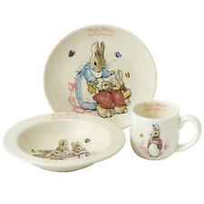 More details for beatrix potter peter rabbit nursery bowl plate cup set, flopsy mopsy cotton-tail