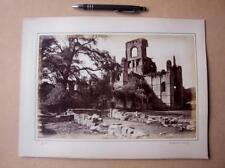 Kirkstall  Abbey Leeds     . Victorian Photograph mounted on album card