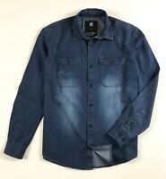 G-Star Raw Denim Shirt Men's Slim Fit Mid Blue Lightweight Long Sleeve
