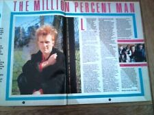 HOWARD JONES the million per cent man 2 page UK ARTICLE / clipping