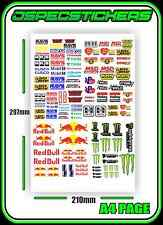 SCALE STICKER SHEET R/C CRAWLER 1/10 DRIFT DRAG CAR BRAND ENERGY DRINK LOGOS 2