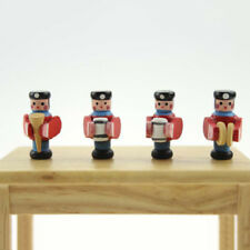 4PCS MINI WOOD PUPPET MINIATURE TOY FOR 1:6 1:12 DOLLHOUSE DECORATION GIFT _GG