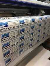 Bulk Quality Custom White Vinyl Stickers to Your Design, Decals, Labels, Logos