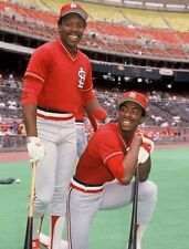 1985 VINCE COLEMAN & WILLIE MCGEE St. Louis Cardinals Glossy Photo 8x10  PICTURE