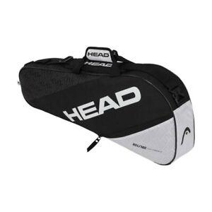 HEAD Elite 3R Pro 75cm Carry Sports Tennis Bag for Racquet/Racket Black/White