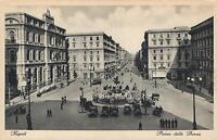 EARLY 1900's VINTAGE NAPOLI - PIAZZA della BORSA POSTCARD - CARCAVALLO PC