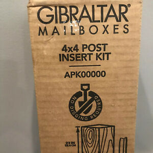 Mailbox Post Anchor Kit 23 In. Wood Steel Quick Easy Install Gibraltar 4x4 Post