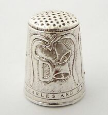 Antique Hallmarked Sterling Silver Sewing Royal Family Charles & Diana LAYBY AVA