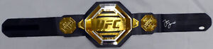 JON BONES JONES AUTOGRAPHED UFC CHAMPIONSHIP BELT IN SILVER BECKETT 185710