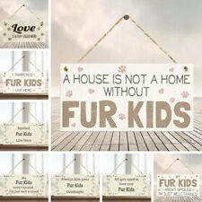 10x20cm Funny Dog Signs Wooden Plaque Pet Lover Hanging Plaques Home R2020 ert