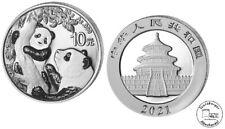 China 10 Yuan 2021 Panda 30 Gramm  999 Silber * BU * gekapselt Anlagemünze