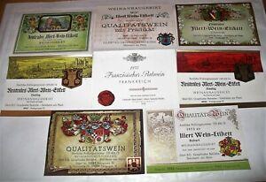 8 Vintage GERMAN WINE BOTTLE LABELS Germany