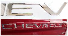 NEW Custom Chrome Chevrolet Insert Letters ABS Fit 2019-2020 Chevrolet Silverado