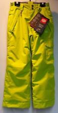 686 Youth Misty Insulated Snow Ski Winter Pant Hot Lime Size Girls Small NEW