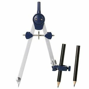 Math Drafting Compass for Geometry Precision Tool for Drafting Drawing Measuring JARLINK Professional Compass Lock