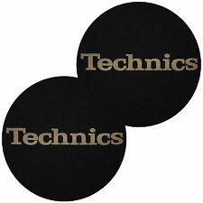 Slipmat Technics letras oro (paquete doble)