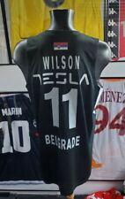 Jersey maillot trikot maglia partizan worn porte fiba basketball tesla wilson L