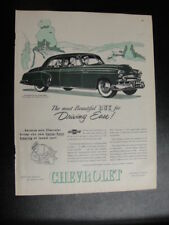 1949 Style Line 4 Door Sedan Chevrolet Magazine Advertisement