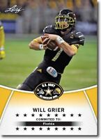 WILL GRIER 2014 LEAF 1ST EVER PRINTED HIGH SCHOOL ARMY ROOKIE CARD! HEISMAN!