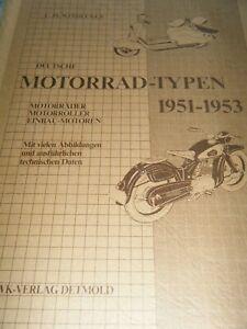 MOTORRAD TYPEN 1951 1953 WINDECKER TRIUMPH TORPEDO TORNAX NSU MARS LUTZ ILO BMW