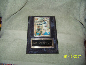 90's framed /plaque  baseball card  {ken griffey jr}