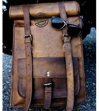Men Vintage Genuine Leather Laptop Backpack Rucksack Leather 2 in 1 Bagpack-5